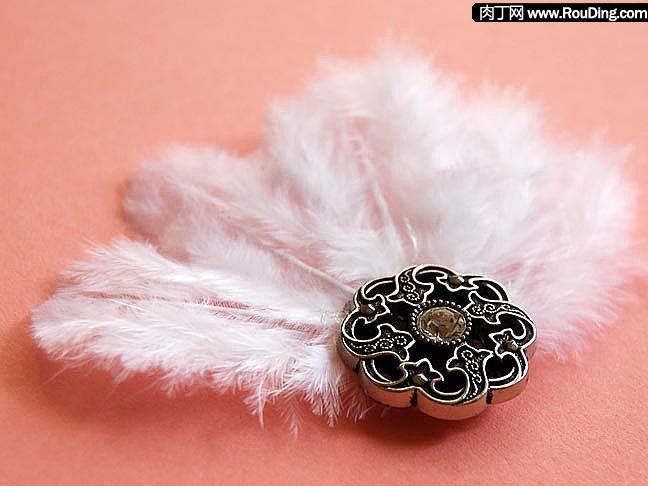 羽毛头饰,可爱发夹的DIY制作方法