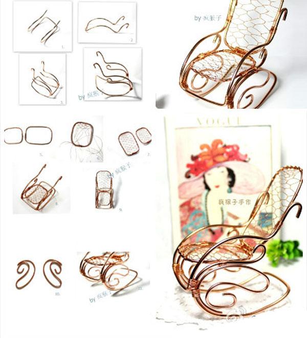 精致复古工艺品铜丝摇椅的制作方法图解