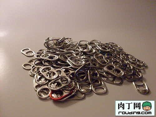 易拉罐拉环制作的手工项链