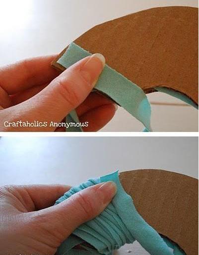 diy布艺绣球装饰布花的制作方法图解