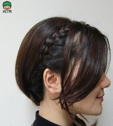 diy韩式发型短发编发图解