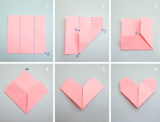 手工叠心步骤图