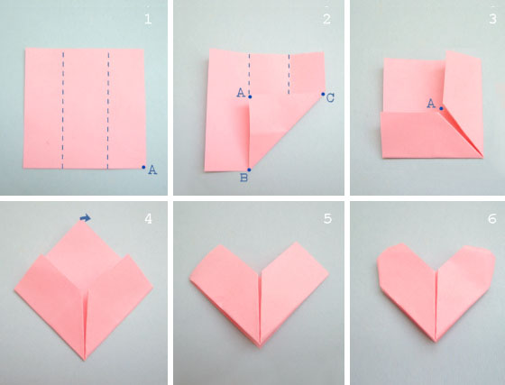 最简单长方形纸叠心diy教程-封存