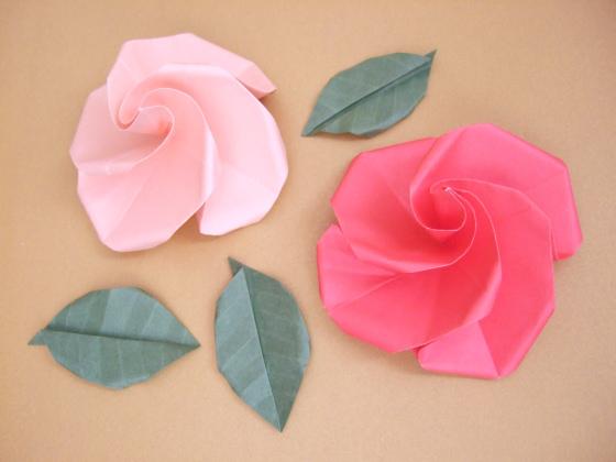 折纸花—漂亮的玫瑰折纸手工图解-封存