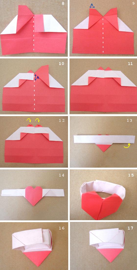 漂亮的心形折纸方法