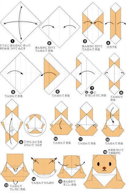 折纸方法——教你好萌的小熊折纸图解-封存 日志测试