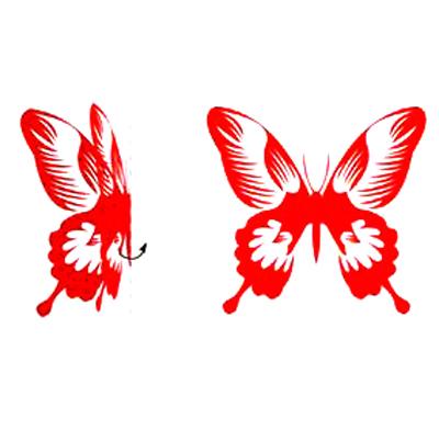 简单的蝴蝶剪纸图案