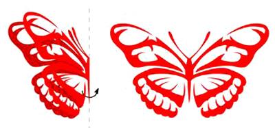 经典蝴蝶剪纸剪法图解