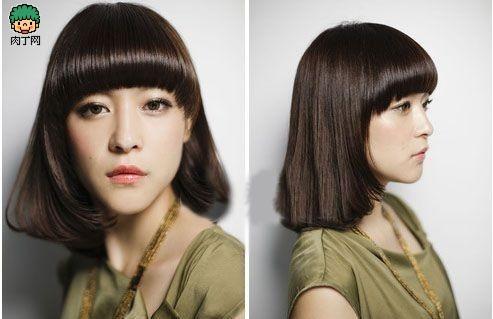 无论你是额头宽,颧骨宽还是两腮肥嘟嘟,都可以利用这款发型来轻松图片