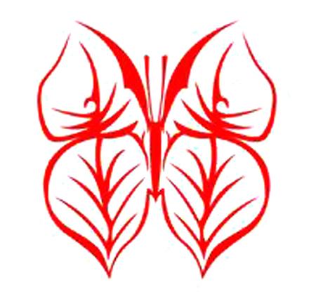 简单的蝴蝶剪纸图案步骤