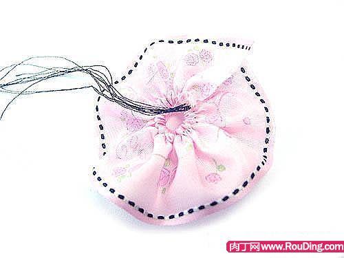 一种韩式发绳的制作方法-彩带玫瑰头花-封存