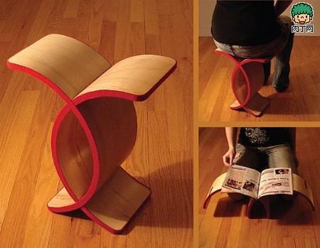 简单却功能多多的弧形座椅