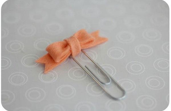 饰品DIY 用曲别针制作漂亮的蝴蝶结胸针方法图解