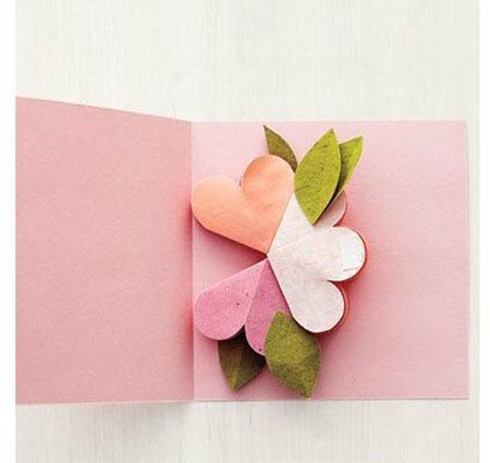 贺卡制作方法 教你DIY一款清新立体花朵贺卡做法图解