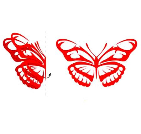 DIY蝴蝶剪纸的技法图示