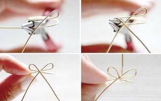 创意戒指 教你用铁丝DIY漂亮的蝴蝶结戒指