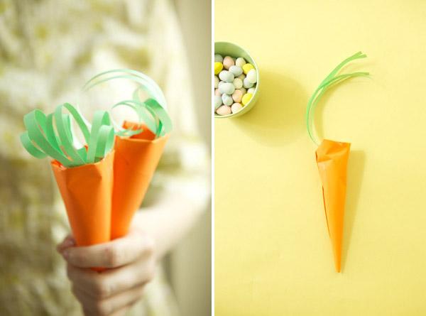 一款清新的胡萝卜糖果包装纸袋的做法图解