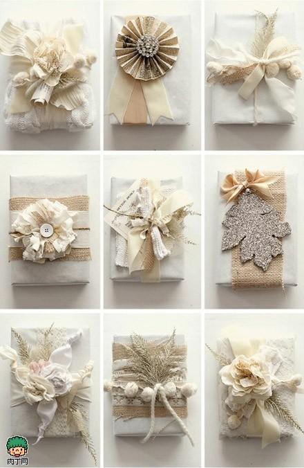 一组华美礼品包装方法,唯美包装盒DIY