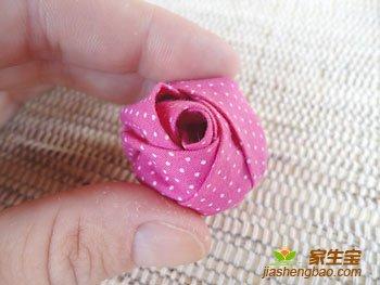 布艺制作,玫瑰花蕾,手工制作