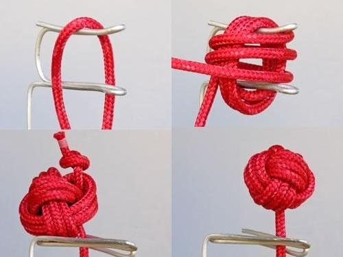 中国结艺基本结—十字结盘扣结的方法图解