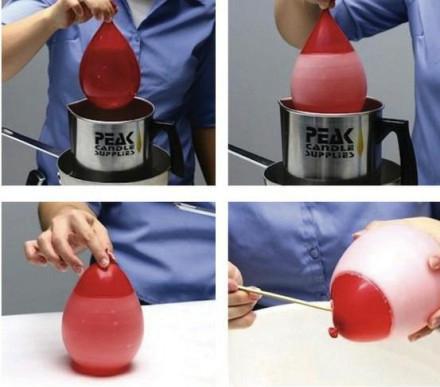 教你用气球DIY唯美的创意蜡烛方法教程