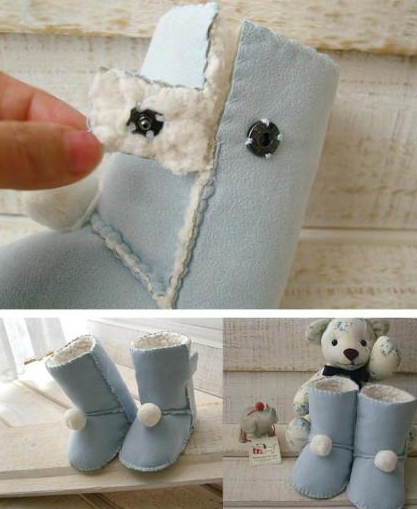 宝宝鞋—教你亲手制作小雪地靴的教程图解