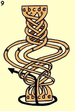 皮绳DIY 教你如何编织多股皮绳的方法图解