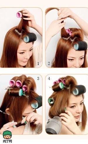发型,DIY,卷发,空气感