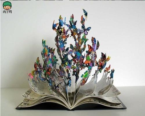 重生的艺术-生命之书唯美旧物利用铁皮雕塑