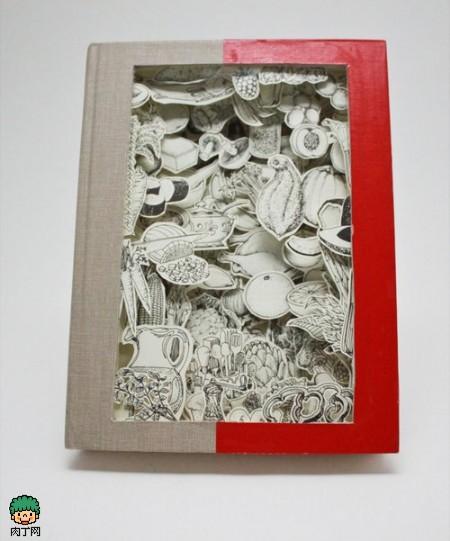另类的图书雕刻创意设计作品