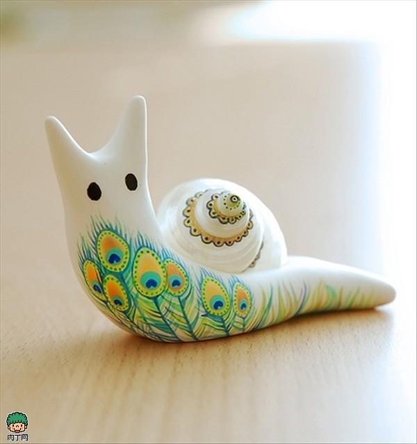 软陶公仔作品 可爱的小蜗牛