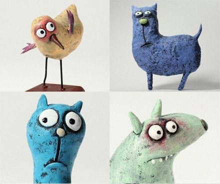 软陶泥作品 超可爱自制玩偶