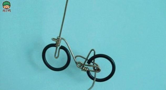 铜线diy手工制作自行车小摆件-封存