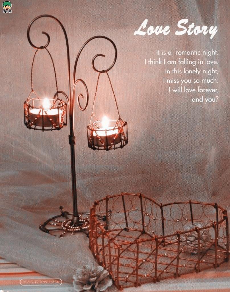 铝线如何自制烛台 精美铝线的烛台架DIY教学