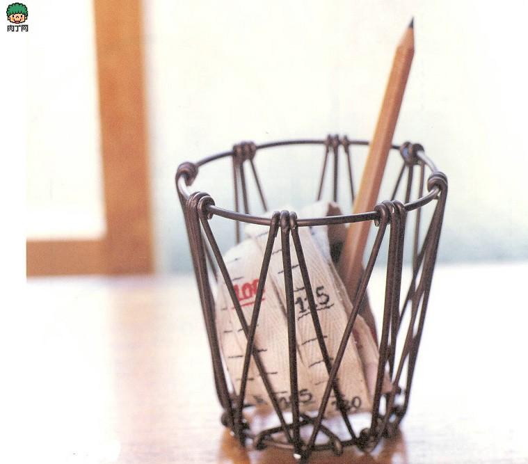 铁丝、铝线制作收纳篮DIY图解