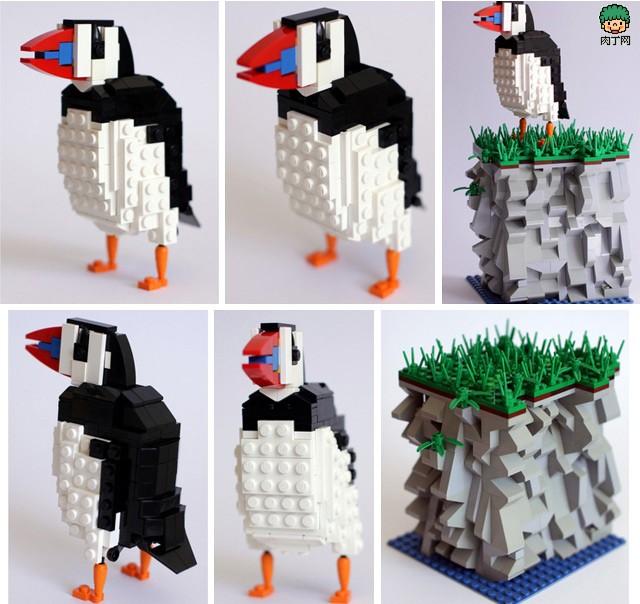 令人震撼的DIY乐高积木小鸟图例