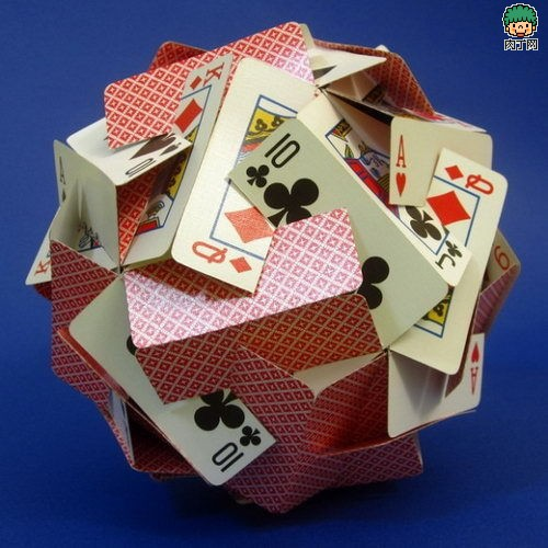 扑克牌小制作立体