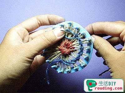 麻绳花形杯垫的做法(麻绳装饰DIY图解)