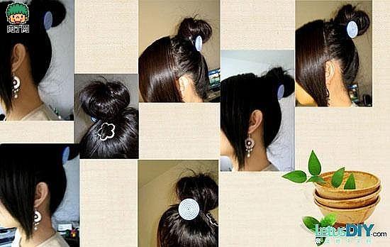 日本很流行头型风格-丸子头做法