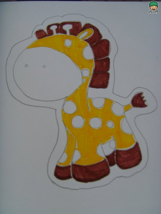 儿童创意绘画作品创作过程