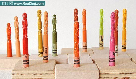 用蜡笔DIY的创意图腾雕刻