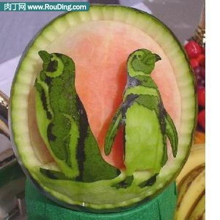 西瓜雕刻作品欣赏