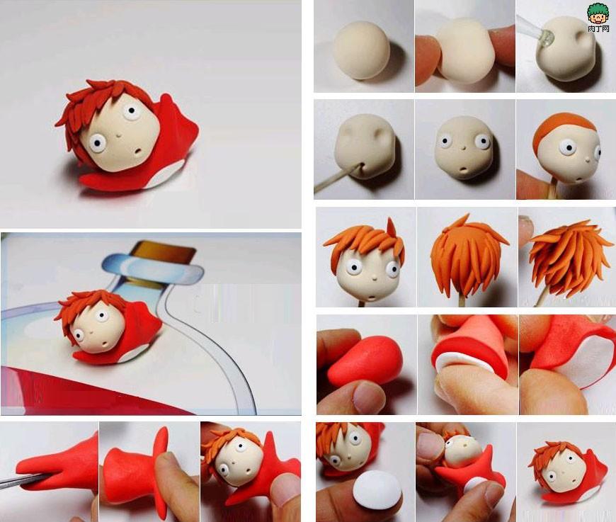 DIY软陶手工艺品——如何制作可爱的游泳公仔