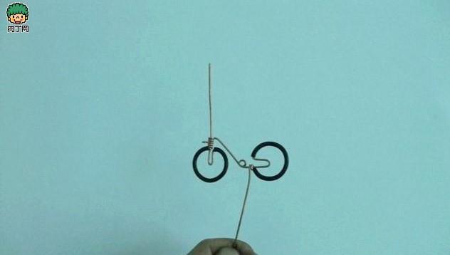 铜线DIY手工制作自行车小摆件