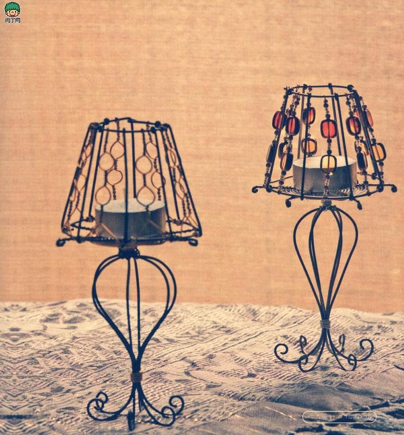 铝线手工制作 欧式灯形烛台diy图解-封存