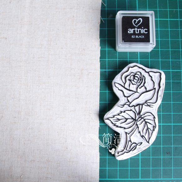 漂亮的手工手绘束口袋的制作图解