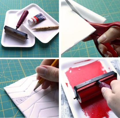 如何制作简单的吹塑纸版画的方法图解-封存